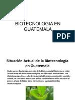 Biotecnologia en Guatemala