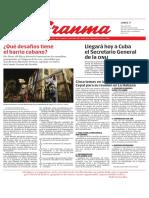 Diario Granma. 7 de mayo de 2018.