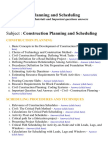Construction Planning and Scheduling - Lecture Notes, Study Materials and Important questions answers