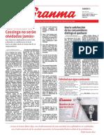 Diario Granma. 5 de mayo de 2018.