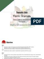 edt 346 thematic unit- farm animals