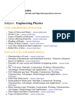 Engineering Physics - Lecture Notes, Study Materials and Important questions answers