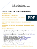 Design and Analysis of Algorithms - Lecture Notes, Study Materials and Important questions answers