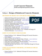 Design of Reinforced Concrete Elements - Lecture Notes, Study Materials and Important questions answers