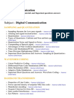 Digital Communication - Lecture Notes, Study Materials and Important questions answers