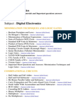 Digital Electronics - Lecture Notes, Study Materials and Important questions answers