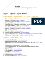 Digital Logic Circuits - Lecture Notes, Study Materials and Important questions answers