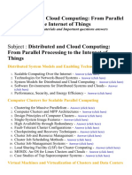 Distributed and Cloud Computing From Parallel Processing to the Internet of Things - Lecture Notes, Study Materials and Important questions answers