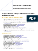 Electric Energy Generation, Utilization and Conservation - Lecture Notes, Study Materials and Important questions answers
