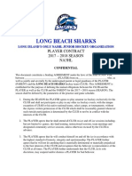 long beach sharks player contract  2017-2018