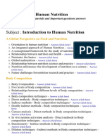 Introduction to Human Nutrition - Lecture Notes, Study Materials and Important questions answers