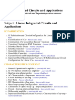 Linear Integrated Circuits and Applications - Lecture Notes, Study Materials and Important questions answers