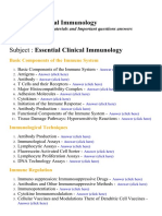 Essential Clinical Immunology - Lecture Notes, Study Materials and Important questions answers