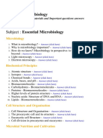 Essential Microbiology - Lecture Notes, Study Materials and Important questions answers