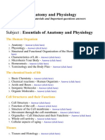 Essentials of Anatomy and Physiology 1 - Lecture Notes, Study Materials and Important questions answers