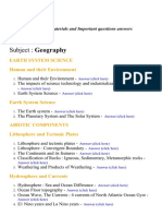 Geography - Lecture Notes, Study Materials and Important questions answers