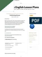 CAE Writing Phrases – Tim's Free English Lesson Plans