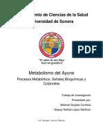 Metabolismo Del Ayuno
