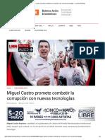 10-05-18 Miguel Castro promete combatir la corrupción con nuevas tecnologías