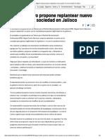 10-05-18 Miguel Castro propone replantear nuevo pacto con la sociedad en Jalisco
