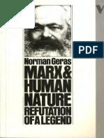 Norman Geras-Marx and Human Nature_ Refutation of a Legend-Verso (1983)