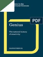 Genius_The Natural History of Creativety [Eysenck, Hans J.]