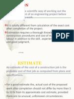 Estimatin -Outline PDF