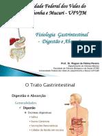 Fisiologia Gastrintestinal Digestão e Absorção