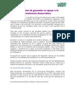 Documento | Ampliación de garantías en apoyo a la convivencia democrática