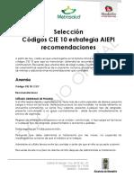 Aiepi y Codigos Cie 10