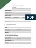 Formulario de Postulacion Web 1