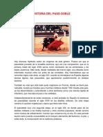 Historia Del Paso Doble
