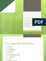 Los 10 Deportes Olimpicos