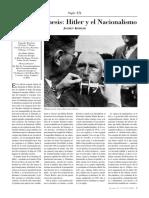 KÖHLER, J. (Recensión). Hibris y Némesis. Hitler y El Nacionalismo. 5p