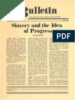 Slavery and the Idea of Progress