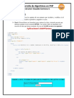Desarrollo de Algoritmos Con Php