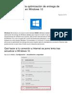 Como Desactivar La Optimizacion de Entrega de Windows Update en Windows 10