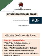 Aula I Métodos Geofísicos de Poços I
