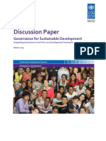 Discussion Paper Governance for Sustainable Development