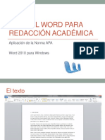 Como Citar APA Con Word (Windows)
