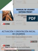 Preset-Interaccion Con Usuario