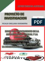 Presentación Proyecto de Investigacion cardiologia
