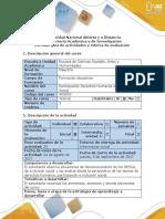 Guía de Actividades y Rúbrica de Evaluación - Reconocimiento General Del Curso