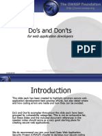 Web Application Development Dos and Donts