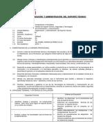 Sílabo de Organización y Administración Del Soporte Técnico