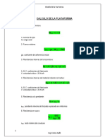 Calculo de La Plataforma