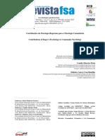 PACHECO, MAIA e BOMFIM - Contribuições Da Psicologia Rogeriana Para a Psicologia Comunitária