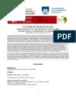 Escuela de Verano ALAIC 2018 - Programa Final