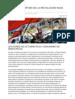"""javisegura.es-CIEN AÃ'OS DESPUÉS DE LA REVOLUCIÃ""""N RUSA DE 1917"""