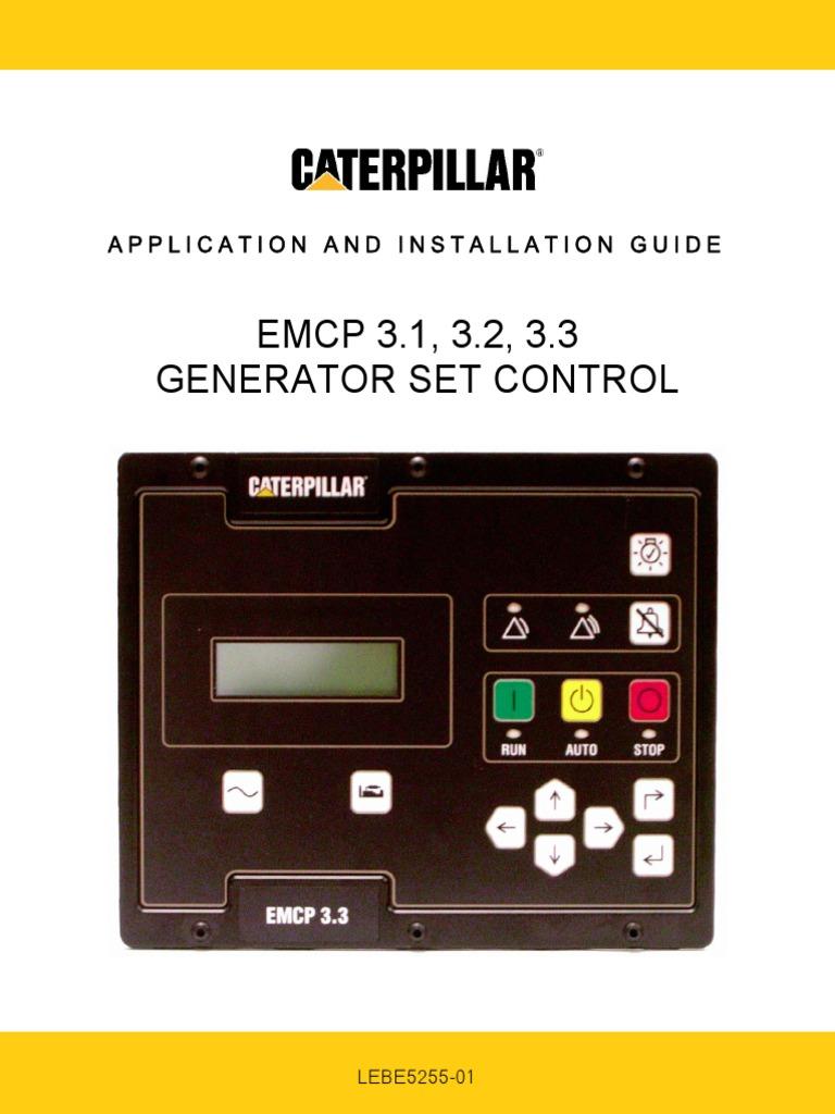 emcp generator set control panel application installation guide rh scribd com Caterpillar Generator Sales caterpillar generator installation guide pdf